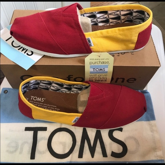 ded27c4c45a Men s TOMS-USC Colors Slip On Shoes