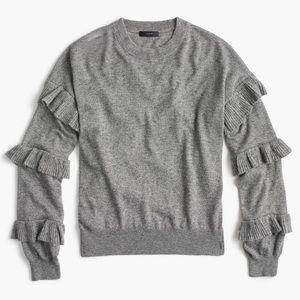 J. Crew ruffle-sleeved sweater