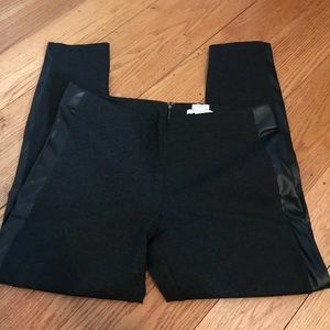 J. Crew black pants with faux leather
