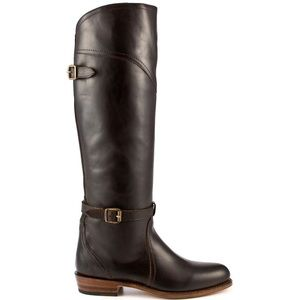 FRYE Dorado Tall Buckle BOOT Dark Brown New in BOX