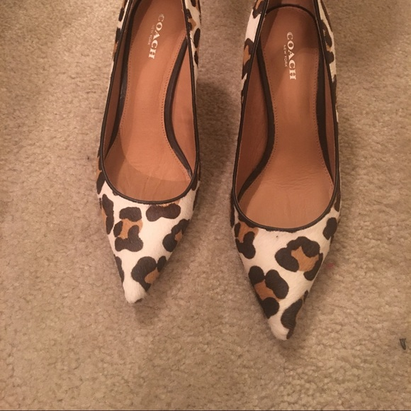 fcfa73cee488 Coach Shoes - Coach calf hair leopard print shoes