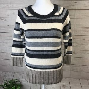 The limited wool blend striped sweater size M