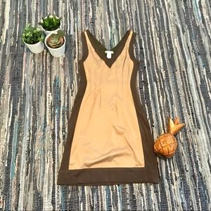 ESLEY SATIN AND KNIT DRESS