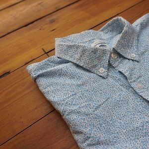 Old Navy Button Down (blue/white flowers)