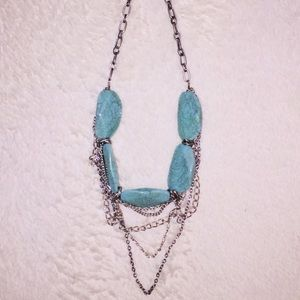 Jewelry - Chunky Faux Turquoise Necklace