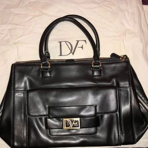 DVF Black Eva Satchel