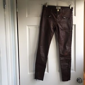 Super cool 'leathered' biker Current Elliott jeans