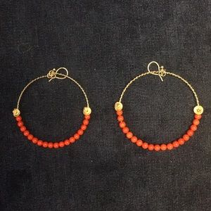 Chan Luu silver and red earrings