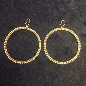 Chan Luu silver earrings - mother of pearl
