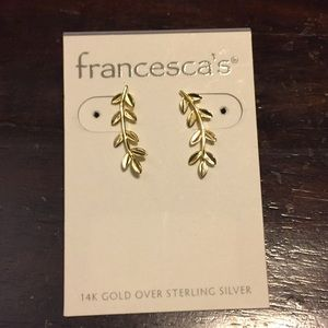 Francesca's 14k gold coated vine earrings