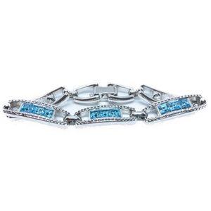 Swarovski blue Crystal tennis bracelet