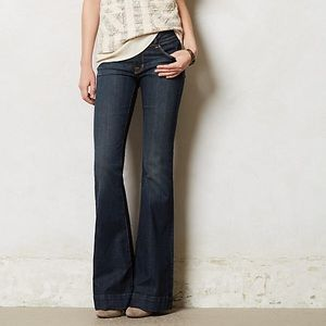 7 FAM High Waisted Ginger Flared Jeans