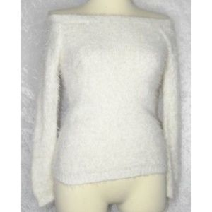 ASOS S-M Off Shoulder Fluffy Knit Top Sweater