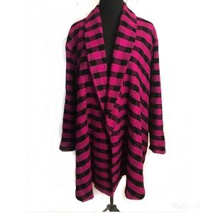 Beautiful magenta swing coat jacket