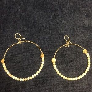 Chan Luu silver earrings with mother of pearl