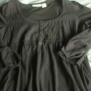 Dkny knit long sleeve top black xl