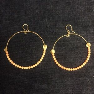 Chan Luu silver earrings with pink stones