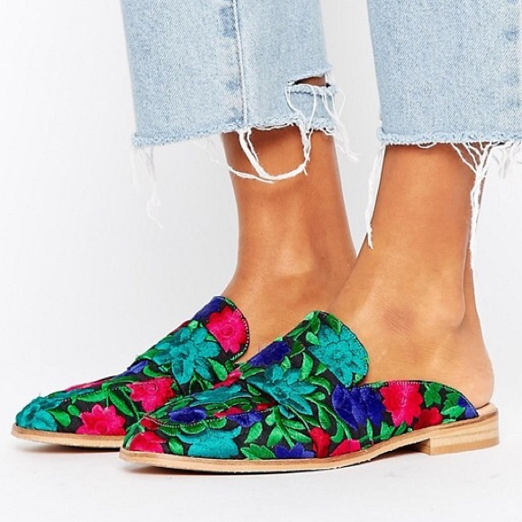 f258509e93e Free People Shoes - Free People brocade at ease loafer blue