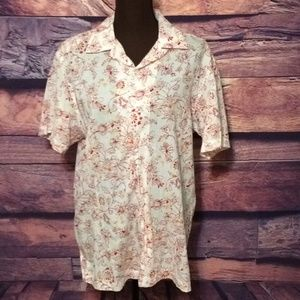 Women's DKNY Jeans Short Sleeve Button Down Top