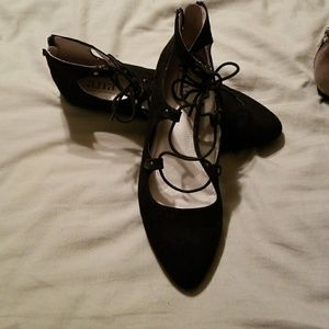 2 pairs of Lace up flats