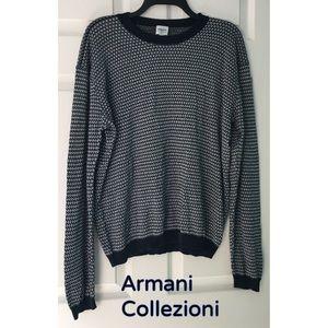 Armani Collezioni Sweater Lightweight Dark Blue L