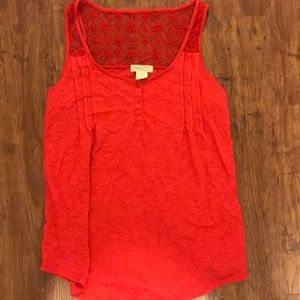 Red lucky brand tank top