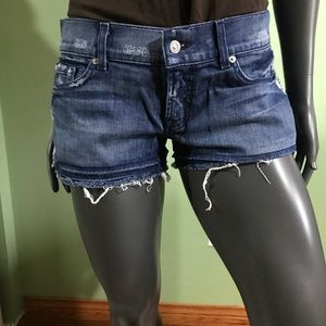 Size 29 for all mankind jean shorts