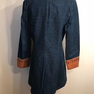 Vintage Jackets & Coats - Vintage western suede and jean jacket coat