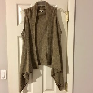 Gap  Taupe Wool Blend Draped Sweater Vest