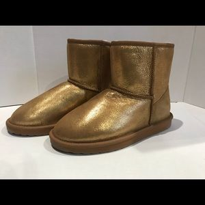 Emu gold metallic mini boots