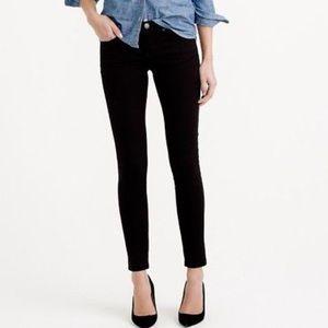 J. Crew Black Velvet Toothpick Pants