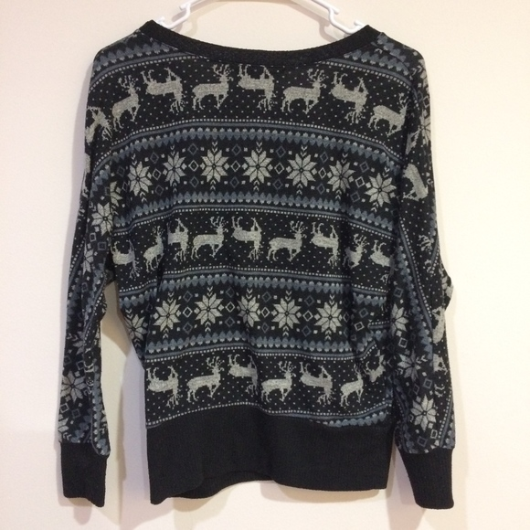 60% off Forever 21 Sweaters - Forever21 Reindeer Fair Isle Printed ...