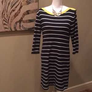 Ralph Lauren | Navy and White Striped Dress