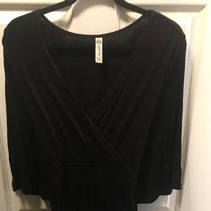 American Rag black faux wrap blouse 2X