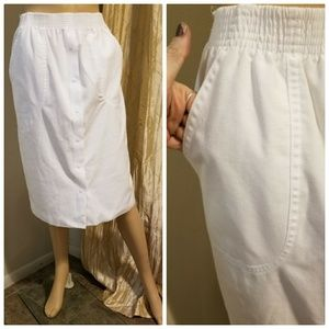 Authenticn 1950s white pencil skirt