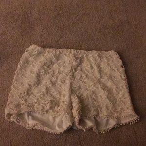 Charlotte Russe crochet shorts