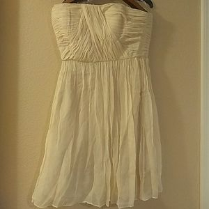Strapless off white dress
