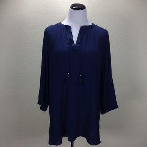 NWOT Liz Lange Blue V-Neck Maternity Tunic