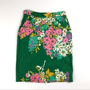 Anthropologie Odille Penciled Abronia Pencil Skirt