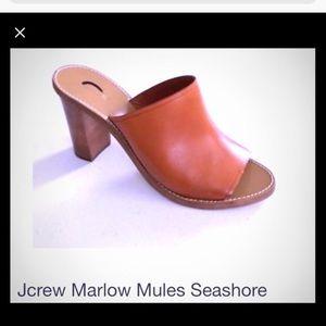 J. Crew marlow mule sandals size 7 caramel