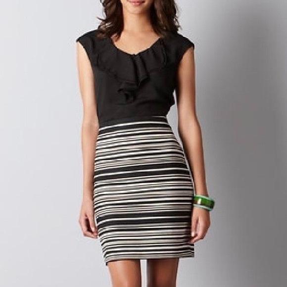 7304900072b LOFT Dresses   Skirts - ANN TAYLOT LOFT - Ruffle Sheath Skirt Dress 6   S