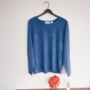 🔆 NWT ALFRED DUNNER Blue Sweater 🔆