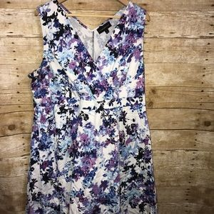 Lane Bryant floral print dress 26