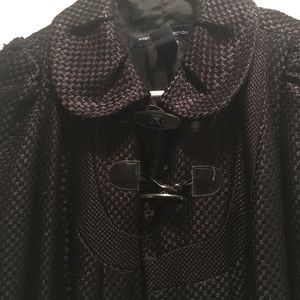 French connection black shiny coat
