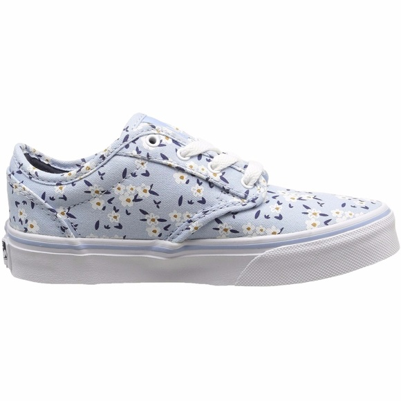 4bc674b638 Vans My Atwood Light Blue Flower Textile Sneakers.  M 5a2c88be99086a2b3b034b84