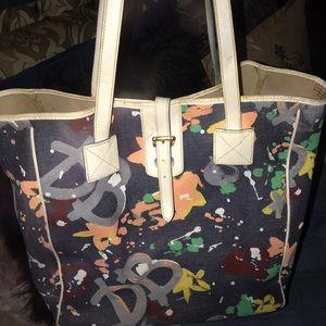 Dooney & Bourke XL Jean Graffiti Tote Bag