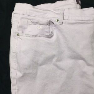 Gloria Vanderbilt Lilac brushed denim jeans