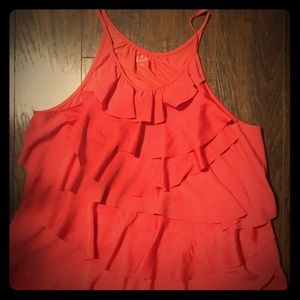 ADORABLE ruffled fancy tank, size medium