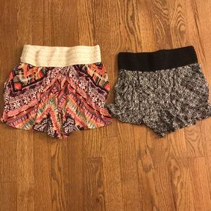 2 pairs of flowy shorts