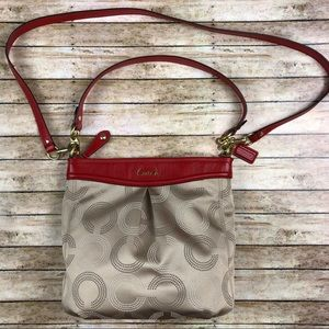 Coach Ashley Dotted OP Art Hippie Bag